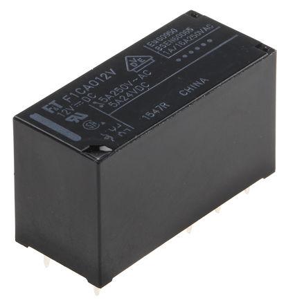 Fujitsu - FTR-F1CA012V - Fujitsu FTR-F1CA012V 双刀双掷 PCB 安装 非闭锁继电器, 12V