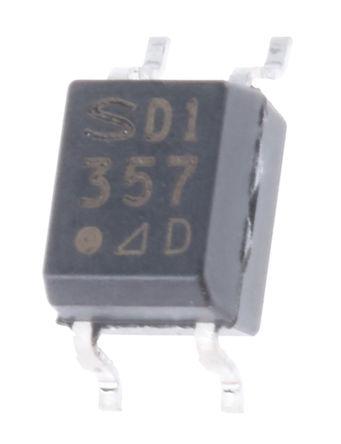 Sharp - PC357N7TJ00F - Sharp 光耦 PC357N7TJ00F, 直流输入, 晶体管输出, 4引脚 Mini-Flat 封装
