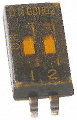 TE Connectivity - 1571983-1 - TE Connectivity 1571983-1 2位置 摇臂 表面安装 DIP 开关, 单刀单掷, 25 mA@ 24 V 直流