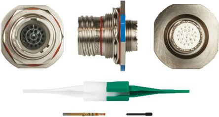 ITT - KJB7T13F35SN - ITT KJB 系列 22路 面板安�b �B接器 螺�y 插座 KJB7T13F35SN, 母�|芯, 外�こ叽�13, MIL-DTL-38999