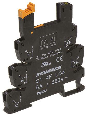 TE Connectivity - ST4FLC4 - TE Connectivity 继电器插座 ST4FLC4, 适用于SNR 系列