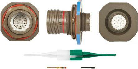 ITT - KJB7T11W35PN - ITT KJB 系列 13路 面板安�b �B接器 螺�y 插座 KJB7T11W35PN, 公�|芯, 外�こ叽�11, MIL-DTL-38999