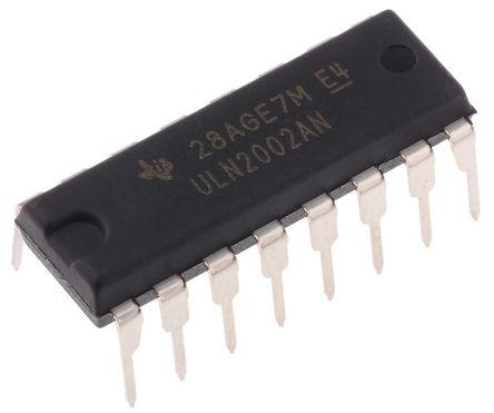 Texas Instruments - ULN2002AN - Texas Instruments ULN2002AN NPN 达林顿晶体管对, 0.5 A, Vce=50 V, 16引脚 PDIP封装