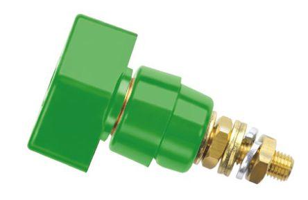 Schutzinger - POL 631 / GN - Schutzinger 4mm 绿色 绝缘 接线柱 POL 631 / GN, 1kV, 63A额定电流, M6 x 0.75 螺纹