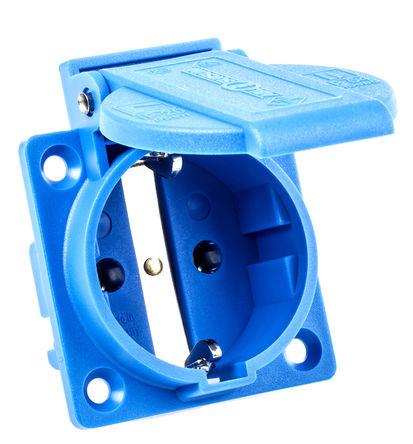 ABL Sursum - 1461050 - ABL Sursum 1461050 蓝色 2P+E 欧洲 市电 插座, 额定250 V 16A