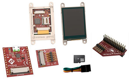 4D Systems - SK-gen4-24PT-PI - 4D Systems �D形�@示�_�l套件 SK-gen4-24PT-PI