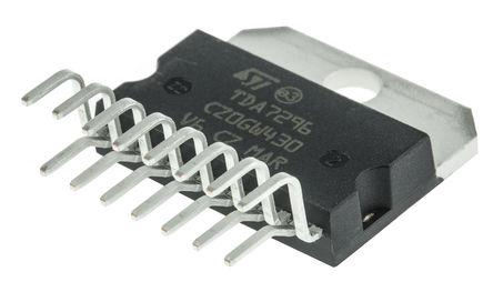 STMicroelectronics - TDA7296 - STMicroelectronics TDA7296 AB 类 单声道 扬声器放大器, +70 °C, 60 W @ 8 Ω最大功率, 15引脚 MULTIWATT V封装