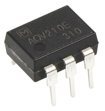 Panasonic - AQV210E - Panasonic 130 mA PCB安装 单极常开 固态继电器 AQV210E, MOS 照片输出, 350 V