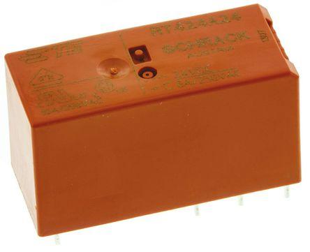 TE Connectivity - RT424A24 - TE Connectivity RT424A24 双刀双掷 表面贴装 自锁继电器, 24V dc, 适用于电源应用