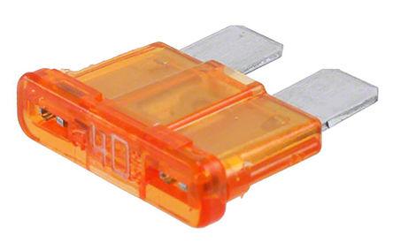 Cooper Bussmann - ATC-40 - Cooper Bussmann ATC 系列 40A 橙色 车用熔断器 ATC-40, 32V dc, 7.5mm x 4.3mm x 8.4mm