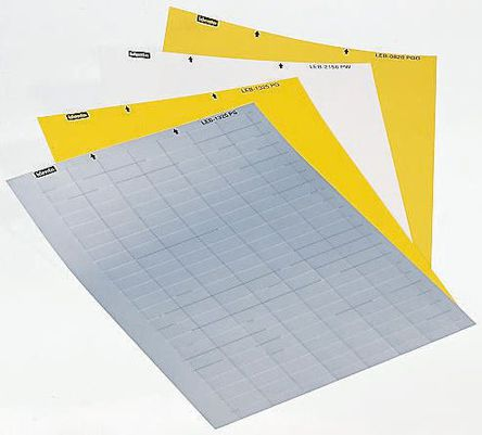Idento - LEB0825PG - Idento LEB0825PG 231件装 黄色 空白不干胶标签, 8.47mm长, 25.4mm宽