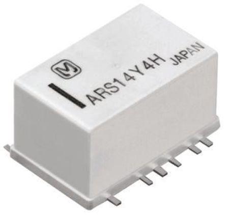 Panasonic - ARS12A12 - Panasonic 单刀双掷 PCB 高频继电器 ARS12A12, 3GHz, 12V dc