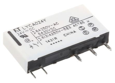 Fujitsu - FTR-LYCA024Y - Fujitsu FTR-LYCA024Y 单刀双掷 PCB 安装 非闭锁继电器, 24V