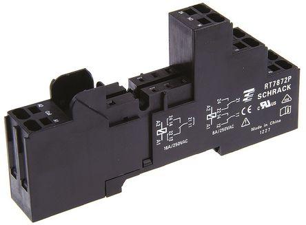 TE Connectivity - RT7872P 1860200-1 - TE Connectivity 继电器插座 RT7872P 1860200-1, 适用于RT 系列