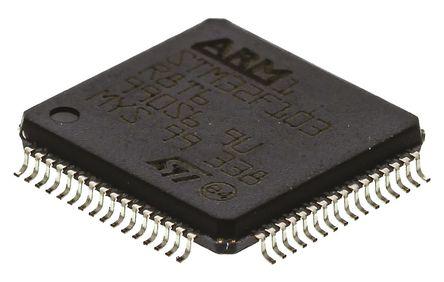 STMicroelectronics - STM32F103R8T6 - STMicroelectronics STM32F 系列 32 bit ARM Cortex M3 MCU STM32F103R8T6, 72MHz, 64 kB ROM 闪存, 20 kB RAM, 1xUSB, LQFP-64