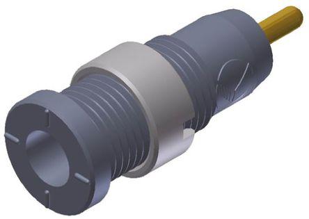 Hirschmann Test & Measurement - 975459706 - Hirschmann 975459706 灰色 母 测试插座, 1000V ac/dc, 10A, 镀金触点