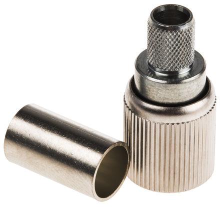 Telegartner - J01070K2000 - Telegartner J01070K2000 75Ω 直向 电缆安装 1.6/5.6 连接器 插头,压接端接 0 → 3GHz, RG59 B/U