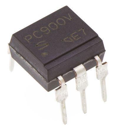 Sharp - PC900V0NSZXF - Sharp 光耦 PC900V0NSZXF, ���T�出, 6引�_ DIP 封�b