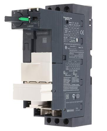 Schneider Electric - LUB320 - Schneider Electric TeSys U-Line 系列 25 hp 电源底座 LUB320, 110 → 220 V 直流,110 → 240 V 交流, 32 A