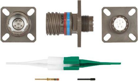 ITT - KJB0T9W35PN - ITT KJB 系列 6路 面板安�b �B接器 螺�y 插座 KJB0T9W35PN, 公�|芯, 外�こ叽�9, MIL-DTL-38999