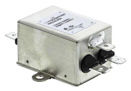 Schaffner - FN332-6-05 - Schaffner FN332 系列 6A 250 V 交流, 0 至 400Hz 底盘安装 RFI 滤波器 FN332-6-05, 带安装片接端