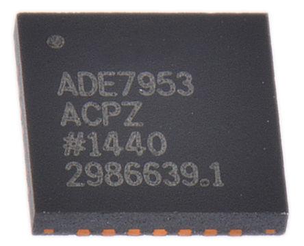 Analog Devices - ADE7953ACPZ - Analog Devices ADE7953ACPZ 能量计 IC, 24 位分辨率, 28引脚 LFCSP WQ封装