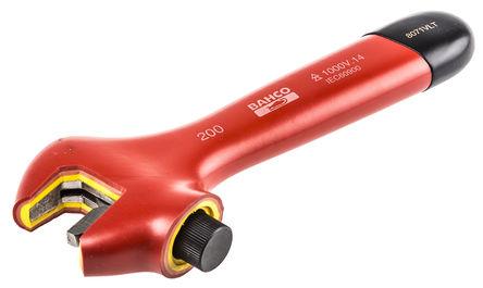 Bahco - 8071VLT - Bahco 29mm钳口 VDE/1000V 绝缘把手 合金钢 可调扳手 8071VLT, 205 mm总长