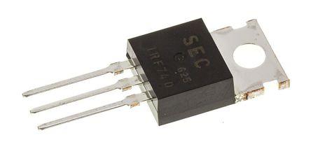 Magnatec - IRF740 - Magnatec Si N沟道 MOSFET IRF740, 10 A, Vds=400 V, 3引脚 TO-220封装