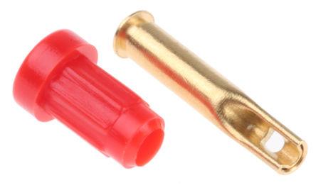 Multi Contact - 23.1010-22 - Multi Contact 红色 1 mm 测试插座 30 V ac/60 V dc 20A, 镀金触头