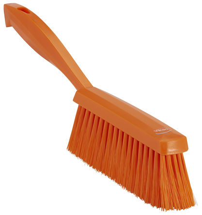Vikan - 45877 - Vikan 45877 橙色 洗手刷, PET刷毛, 适用于清洁干燥、细小颗粒,地板