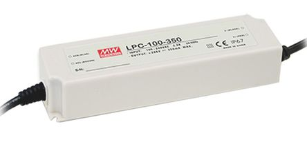 Mean Well - LPC-100-350 - Mean Well LED ��悠� LPC-100-350, 127 → 370 V 直流,90 → 264 V 交流�入, 143 → 286V�出, 350mA�出, 100.1W