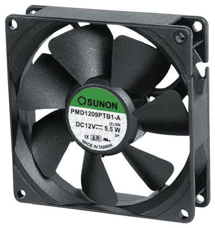 Sunon - PMD1238PKBX-A(2).GN - Sunon PMD 系列 4.3W 12 V 直流 轴流风扇 PMD1238PKBX-A(2).GN, 23m3/h, 15000rpm, 38 x 38 x 20mm