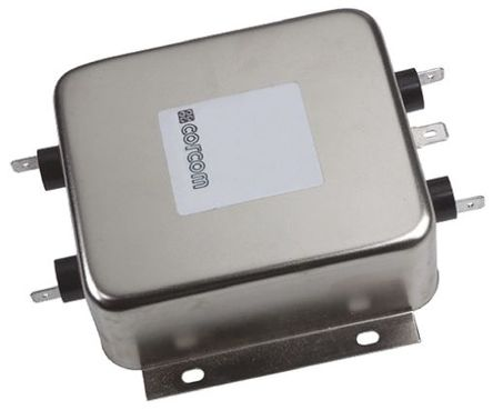 TE Connectivity - 20VR1 - TE Connectivity 20VR1 电源线过滤, 20 A, 250 V 交流, 132.8 x 85.6 x 38.9 mm