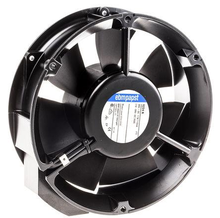 ebm-papst - 6224N - ebm-papst 6200N 系列 18W 24 V 直流 轴流风扇 6224N, 410m3/h, 3400rpm, 172 (Dia.) x 51mm