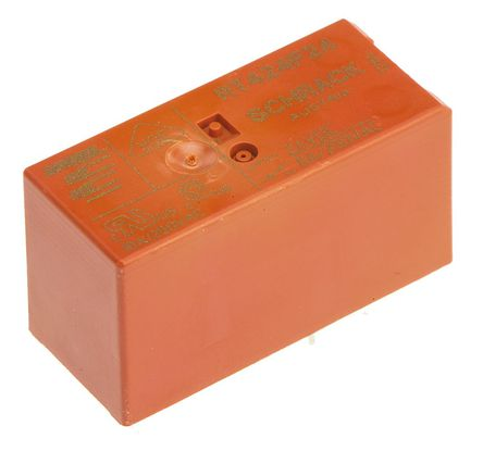 TE Connectivity - RT424F24 - TE Connectivity RT424F24 双刀双掷 表面贴装 自锁继电器, 24V dc, 适用于电源应用
