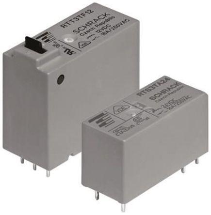 TE Connectivity - RTS3TF12 - TE Connectivity RTS3TF12 单极常开 PCB 安装 自锁继电器, 12V dc, 适用于电源应用