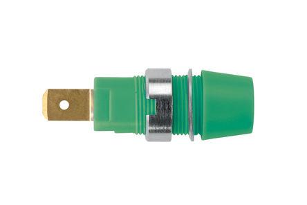 Schutzinger - SAB 7560 Au / GN - Schutzinger SAB 7560 Au / GN 绿色 4mm 插座, 1kV 32A, 镀金触点