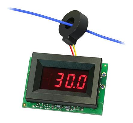 Murata Power Solutions - ACA-20RM-2-AC4-RL-C - Murata 3.5位 LED 数字电流表 ACA-20RM-2-AC4-RL-C, 测量交流电流, 53.34 x 44.45 mm, 0 → +60 °C