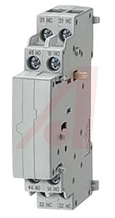 Siemens - 3RV1901-1J - DIN Rail 辅助触点块, 双刀双掷