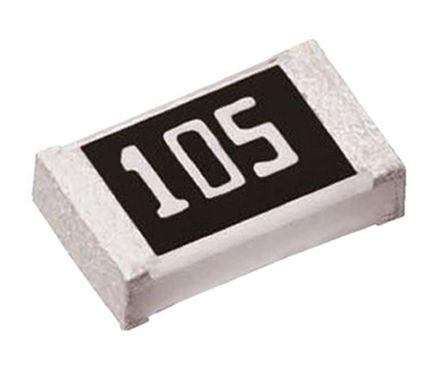 ROHM - MCR03EZPFX1004 - ROHM MCR 系列 0.1W 1MΩ 厚膜SMD 电阻器 MCR03EZPFX1004, ±1%, ±100ppm/°C, 0603 封装