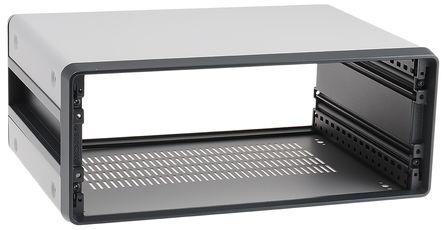 Schroff - 14575143 - Schroff CompacPRO 系列 灰色/银色 铝/挤制铝 3U 通风 台式机箱 14575143, 147.1 x 364 x 271mm