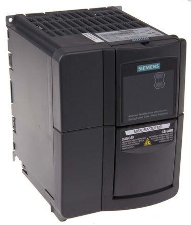 Siemens - 6SE64202AB211BA1 - Siemens MICROMASTER 420 系列 IP20 1.1 kW 变频器驱动 6SE64202AB211BA1, 0 → 550 Hz, 5.5 A, 200 → 240 V 交流