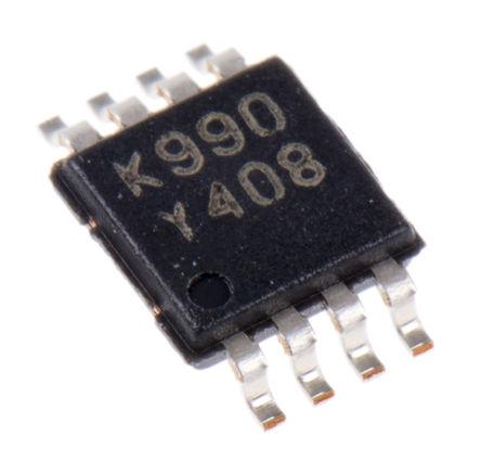 STMicroelectronics - TS4990IST - STMicroelectronics TS4990IST AB 类 单声道 音频放大器, 1.5MHz, +85 °C, 1.2 W @ 8 Ω最大功率, 8引脚 MSOP封装