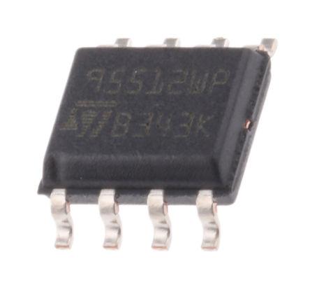 STMicroelectronics - M95512-WMN6P - STMicroelectronics M95512-WMN6P 串行 EEPROM 存储器, 512kbit, SPI接口, 60ns, 2.5 → 5.5 V, 8引脚 SOIC封装