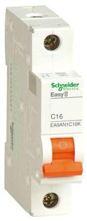 Schneider Electric - EA9AN1C10K - Schneider Electric Easy 9 EA9 系列 10A 1极 C型 微型断路器 EA9AN1C10K