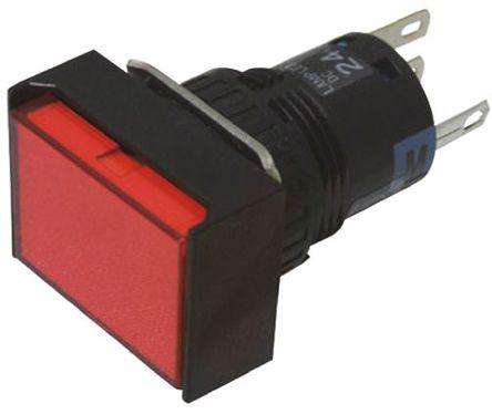 Idec - AL6H-M14P-R - Idec AL6H-M14P-R IP65 瞬�g �蔚峨p�S �t色LED 面板安�b 按�o�_�P, 1A@ 120V 交流,1A@ 24V 直流