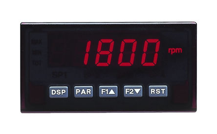 Red Lion - DP5D0000 - Red Lion DSP5D 系列 LED 数字面板式多功能表 DP5D0000, 测量电流、过程、温度、电压