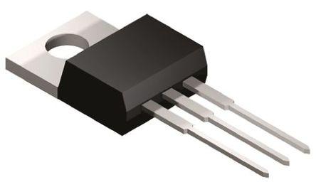 STMicroelectronics - BTB16-600B - STMicroelectronics BTB16-600B 三端双向可控硅开关元件, 16A额定, 600V峰值, 100mA 1.3V触发, 3引脚 TO-220AB封装