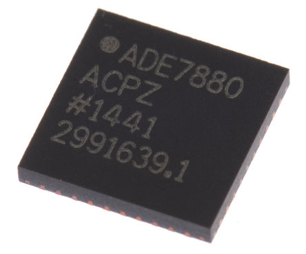 Analog Devices - ADE7880ACPZ - Analog Devices ADE7880ACPZ 能量计 IC, 40引脚 LFCSP WQ封装