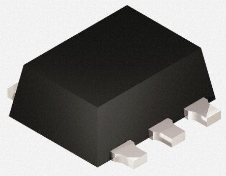 Panasonic - DMG564H20R - Panasonic DMG564H20R 双 NPN,PNP 数字晶体管, 100 mA, Vce=50 V, 1 kΩ, 4.7 kΩ, 电阻比:0.1, 6引脚 SMini6 F3 B封装